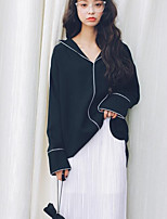 Camicia Da donna Per uscire Casual Moda città Tinta unita Colletto Rayon Manica lunga