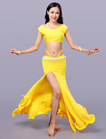 Belly Dance Outfits Women's Training Milk Fiber Sleeveless Dropped Skirts Tops