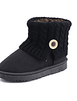 cheap -Women's Shoes Cashmere Winter Snow Boots Boots Round Toe Mid-Calf Boots For Casual Pink Gray Black