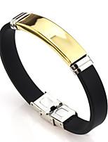 preiswerte -Herrn Damen Gliederarmband , Grundlegend Leder Linienform Knopf Schmuck Für Alltag