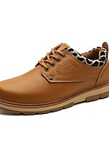 Men's Shoes Synthetic Microfiber PU All Season Combat Boots Oxfords Booties/Ankle Boots For Casual Blue Brown Black