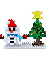 cheap -Building Blocks Toys Snowman Holiday Non Toxic Snowman Kids Adults' 151 Pieces