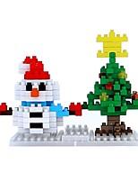 abordables -Bloques de Construcción Juguetes Monigote de nieve Vacaciones Non Toxic Muñeco de Nieve Adulto 151 Piezas
