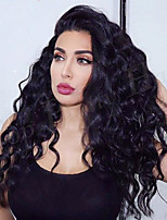 cheap -130% Density Glueless Lace Front Human Hair Lace Wigs with Baby Hair 10A Brazilian 100% Human Hair Water Wave Lace Front Wigs with Natural Hairline