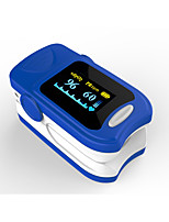 précis fs20a oled bout du doigt oxymètre de pouls oximétrie sang moniteur de saturation d'oxygène avec batteries couleur bleue