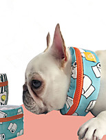 Dog Dog Scarf Dog Clothes Polyester Summer Casual/Daily Reactive Print Black Blue Costume For Pets