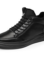 cheap -Men's Shoes Synthetic Microfiber PU PU Leatherette Winter Fall Comfort Sneakers For Casual Black/White Black