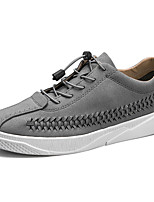 cheap -Men's Shoes PU Spring Fall Comfort Sneakers For Outdoor Almond Gray White