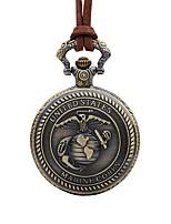 cheap -Men's Pocket Watch Chinese Quartz Large Dial Plastic Band Vintage Cool Brown