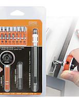 abordables -19 en 1 destornillador de trinquete multifuctioal bits bits ranurados phillips torx parafusadeira destornillador reparación kit de
