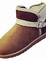cheap -Women's Shoes Cashmere Winter Snow Boots Boots Flat Heel Round Toe Mid-Calf Boots For Casual Camel Pink