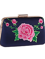 Women Bags Polyester Evening Bag Embroidery for Wedding Event/Party All Season Blue Black Red Blushing Pink Beige