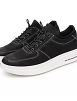 Men's Shoes PU Spring Fall Light Soles Sneakers For Casual Black