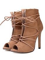 Недорогие -Для женщин Обувь Замша Все сезоны Удобная обувь Оригинальная обувь Модная обувь Ботинки Открытый мыс Ботинки Назначение Свадьба Для