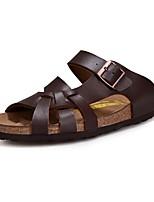 Для мужчин обувь Кожа Весна Лето Оригинальная обувь Сандалии Ноль Ноль С отверстиями Назначение Повседневные Белый Черный Коричневый