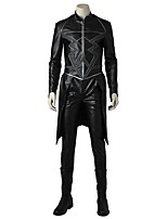 Super Heroes Cosplay Costume Costume Movie Cosplay Gray & Black Top Pants Boots Halloween Carnival Oktoberfest Masquerade leather