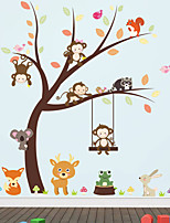 Animals Botanical Cartoon Wall Stickers 3D Wall Stickers Decorative Wall Stickers,Vinyl Material Home Decoration Wall Decal