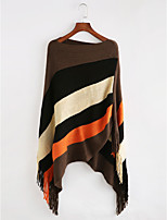 Women's Acrylic Rectangle Striped Fall Winter