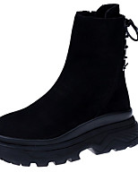 Women's Shoes PU Spring Fall Comfort Boots For Outdoor Black