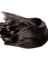 cheap -Natural Color Hair Weaves Straight Hair Extensions Brazilian Natural Black Human Hair Weaves 0.3