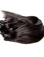 abordables -Tissages de cheveux humains Droite Extensions de cheveux Cheveux Brésiliens Noir Naturel Tissages de cheveux humains 0.3