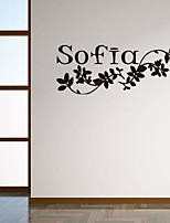Florals Wall Stickers Plane Wall Stickers Decorative Wall Stickers,Paper Material Home Decoration Wall Decal