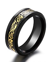 cheap -Men's Band Rings , Metallic Titanium Steel Circle Jewelry For Wedding Gift