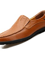 Men's Shoes Rubber Spring Fall Comfort Loafers & Slip-Ons For Outdoor Blue Brown Yellow Black