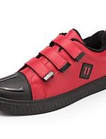 Недорогие -Для мужчин обувь Полиуретан Зима Удобная обувь Кеды Назначение Повседневные Черный Красный