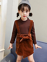 Girls' Solid Sets,Rayon Polyester Fall Winter Long Sleeves Clothing Set
