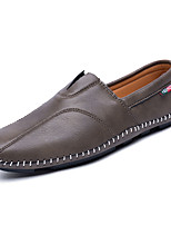 Men's Shoes Rubber Spring Fall Comfort Loafers & Slip-Ons for Outdoor Black Gray Dark Brown
