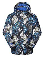 Phibee Ski Jacket Men's Ski & Snowboard Warm Waterproof Windproof Wearable Breathability Anti-static Polyester Jacket