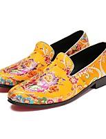 Homme Chaussures Toile de jean Toute Saison Nouveauté Confort Mocassins et Chaussons+D6148 Fleur en Satin Motif Animal Pour Mariage