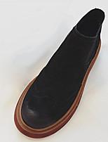 abordables -Femme Chaussures Polyuréthane Hiver Bottes à la Mode Bottes Bout rond Bottes Mi-mollet Pour Décontracté Noir Marron Vert