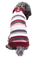cheap -Cat Dog Costume Coat Sweater Dog Clothes Casual/Daily Keep Warm Wedding Halloween Christmas New Year's Stripe British Costume For Pets