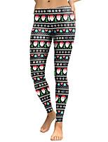 cheap -Women's Mid Rise Micro-elastic Slim Pants,Boho Print Winter Fall