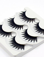 cheap -3 Eyelashes lash Full Strip Lashes Eyelash Thick Lengthens the End of the Eye Casual/Daily Handmade Fiber Black Band 0.07mm 12mm