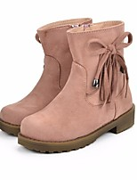 cheap -Girls' Shoes Suede Winter Fall Fashion Boots Boots Mid-Calf Boots Tassel(s) for Casual Pink