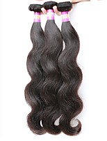 3 Pieces Natural Black Wavy Indian Human Hair Weaves Hair Extensions