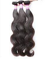 Недорогие -Индийские волосы Волнистый Ткет человеческих волос 3шт Горячая распродажа 0.3