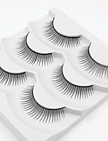 cheap -3 Eyelashes lash Full Strip Lashes Eyelash Natural Long Casual/Daily Handmade Fiber Black Band 0.07mm 10mm