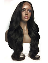 cheap -Women Human Hair Lace Wig Brazilian Human Hair 360 Frontal 180% Density With Baby Hair Wavy Wig Black Short Medium Length Long Natural