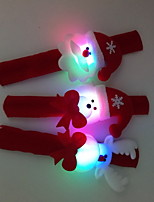 3 pc / set giocattolo luminoso dell'anello di mano di natale