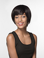 cheap -Women Human Hair Capless Wigs White Black Short Straight Side Part