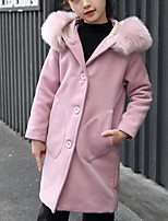Girls' Solid Jacket & Coat,Polyester Long Sleeves