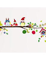 Natal Adesivos de Parede Autocolantes de Aviões para Parede Autocolantes de Parede Decorativos,Papel Material Decoração para casa Decalque