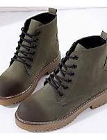cheap -Women's Shoes PU Spring Fall Comfort Combat Boots Boots For Casual Army Green Black