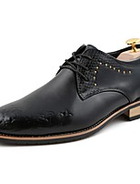 Men's Shoes PU Winter Formal Shoes Comfort Oxfords For Casual Office & Career Wine Black White
