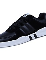 cheap -Men's Shoes PU Spring Fall Comfort Sneakers For Casual Almond Black/White Gray Black