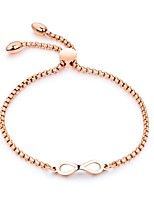 cheap -Women's Chain Bracelet Vintage Elegant Titanium Steel Rose Gold Plated Heart Infinity Jewelry For Wedding Evening Party